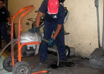 Drain Cleaning with Electric Equipment